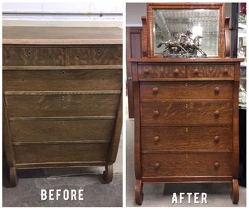 before after mirror cabinet