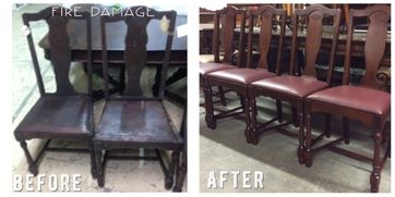 before after mirror chairs